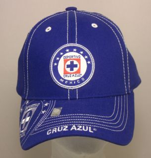 Official Cruz Azul Mexico Soccer Cap Hat Embroidered Adjustable Strap