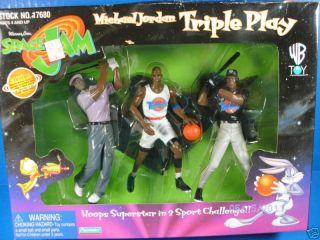 Warner Bros Space Jam Triple Play Michael Jordan NIP