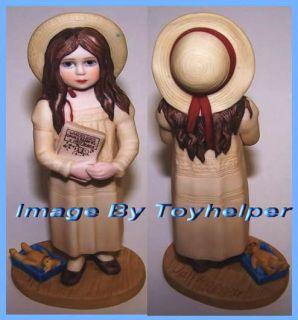 Jan Hagara Figurine Michelle Doll Bear Figure Book Crib