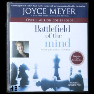 Battlefield of the Mind JOYCE MEYER 6 CDs Drepression Christian NEW