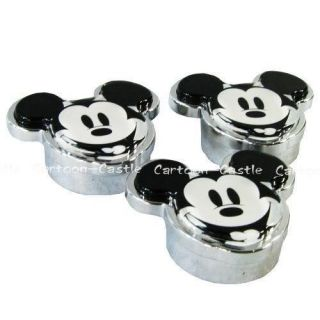 Mickey Mouse Car Auto LICENCE Plate Buckle Cap 3pcs