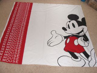 AN ADORABLE MICKEY MOUSE SHOWER CURTAIN FROM WALT DISNEY WORLD NEVER