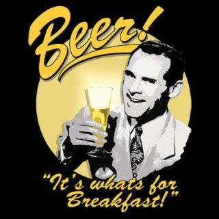 Beer for Breakfast Funny College Humor T Shirt s XXL