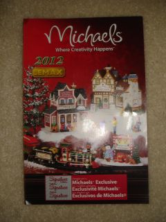 2012 CHRISTMAS VILLAGE COLLECTION CATALOG BOOKLET MICHAELS CRAFT STORE