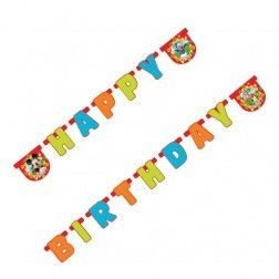 Mickey Mouse Clubhouse Happy Birthday Card Letter Banner Approx 1 9M