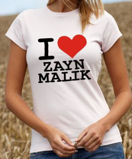 Love Zayn Malik T Shirt One Direction Tshirt x Factor T Shirt 1337