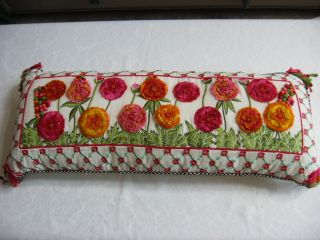 Mackenzie Childs Merrifield Lumbar Pillow 15x36 Oblong $395 New