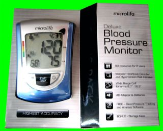 Blood Pressure Monitor Microlife BP3NQ1 Deluxe New Version 2012