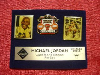 Chicago Bulls Michael Jordan NBA Pin Set