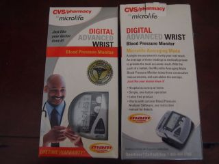 CVS Microlife Digital Advanced Wrist Blood Pressure Monitor Model