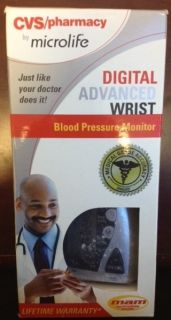BNIB CVS Pharmacy Digital Advanced Wrist Blood Pressure Monitor