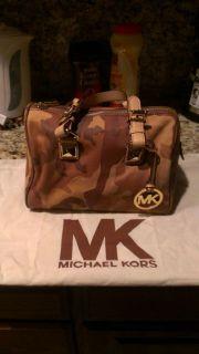 Michael Kors Camo Satchel Handbag Very Nice with Dustbag Included