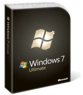 Microsoft Windows 7 Ultimate Full Retail Version in Box Both 32 64 bit