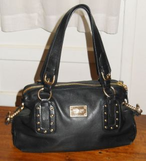 Michael Kors Black with Gold Accents Leather Bag