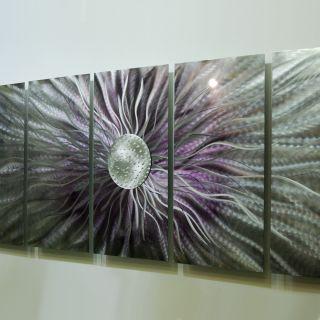 Abstract Metal Wall Art Painting Sculpture Royal Blush 2