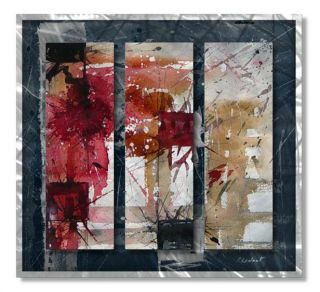 Metal Wall Art Hand Sanded Wall Decor for Modern Settings by Pol