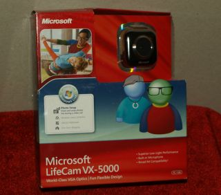 Microsoft LifeCam VX 5000 Sharp Video Web Cam Red Model No 1355