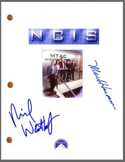 NCIS Signed Pilot TV Script by 2 Mark Harmon Michael Weatherly