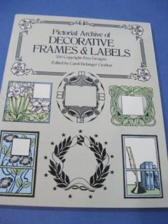 Dover Decorative Frames Labels Borders Tattoo Flash Art