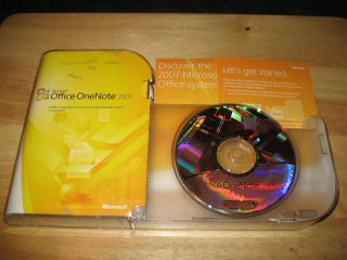 Microsoft Office OneNote 2007 PC CD ROM Full Retail In Box with
