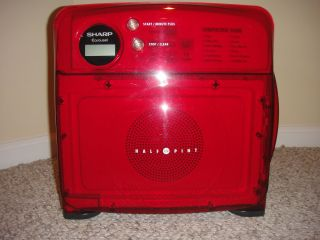 Red Sharp Half Pint Microwave Oven Cube R 120DS Near Mint