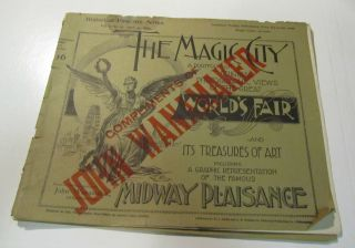 1893 Chicago Worlds Fair Magic City Portfolio 16 Midway Plaisance John
