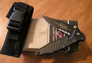 MICROTECH New Carbon Fiber Socom Elite Black Part Serr S35VN Blade