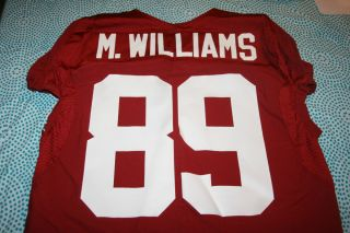 Alabama Crimson Tide Game Used Worn Jersey 89 Michael Williams