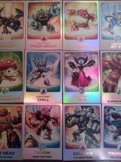 Skylanders Giants Rainbow Foil Cards 156 171 Pick Choose The One You