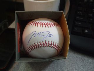 Mike Trout Signed MLB Baseball Anaheim Angels MLB HOLO Authentication