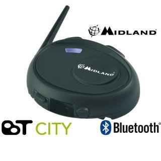 Midland BT City Intercom Motorcycle Bike Waterproof Bluetooth Headset