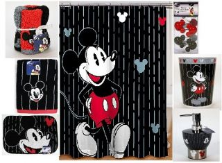 Disney Mickey Mouse Bath Shower Curtain bathroom accessories