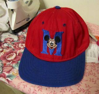 Mickey Mouse Red Baseball Cap Adjustable OSFA
