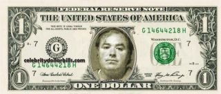 Michael Skakel Mug Shot Celebrity Dollar Bill Uncirculated Mint US
