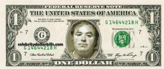 Michael Skakel Mug Shot Celebrity Dollar Bill Uncirculated Mint US
