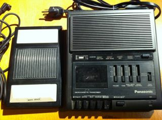 Panasonic RR 930 MicroCassette Tape Recorder Transcriber w/ RP 2692