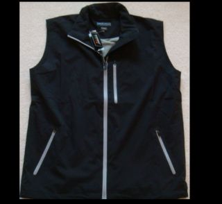 NWT PETER MILLAR ELEMENT 4 WATERPROOF RAIN STORM GOLF VEST COLOR BLACK
