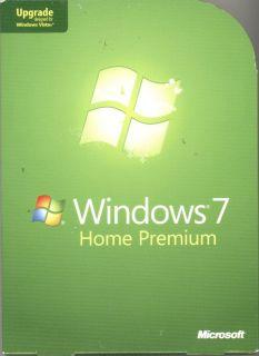Microsoft Windows 7 Home Premium Upgrade Retail Open Box GFC 00020