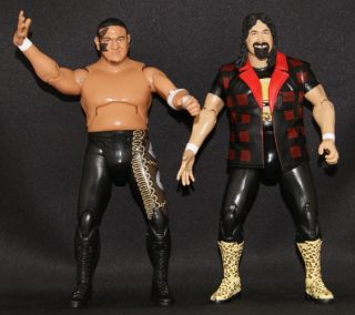 Mick Foley Samoa Joe TNA Cross The Line 1 Toy Wrestling Loose Figures