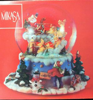 Mikasa China Musical Christmas Snow Globe 7x7x5