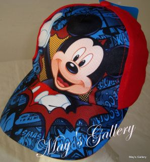 Disney Mickey Mouse Baseball Cap Hat Adjustable Kid Size