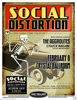 Social Distortion 2011 Concert Tour Poster Mike Ness