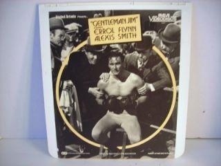 CED Selectavision Videodisc Gentleman Jim Errol Flynn