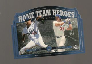 1997 Home Town Heroes Foil Card Mike Piazza Hideo Nomo