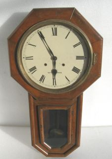 Antique Seth Thomas Long Drop Schoolhouse Regulator Wall Clock