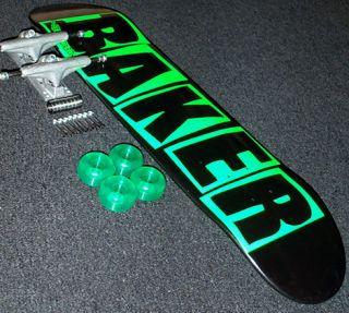 Baker Team Green Danger Mini Skateboard Deck Complete