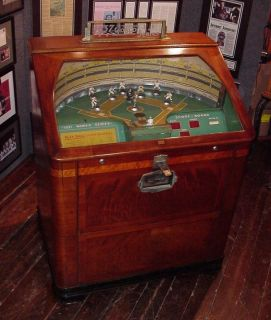 WORLD SERIES Baseball penny arcade mutoscope mills caille exhibit