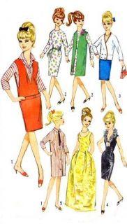 Vintage 11 5 Barbie Midge Doll Clothes Pattern 5673