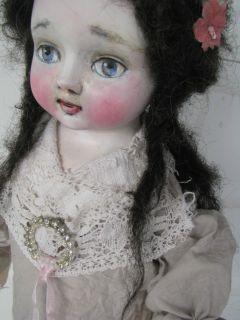 Folk Art Doll Shabby Santos Victorian Remake Lace K D Milstein