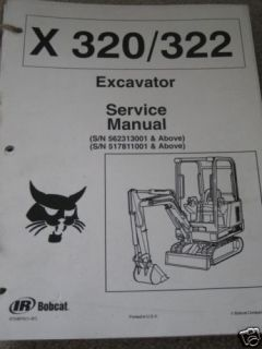 Bobcat 320 322 Mini Excavator Service Repair Manual